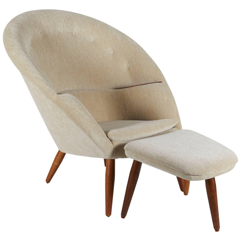 Lounge Chair and Ottoman in the Style of Nanna Ditzel