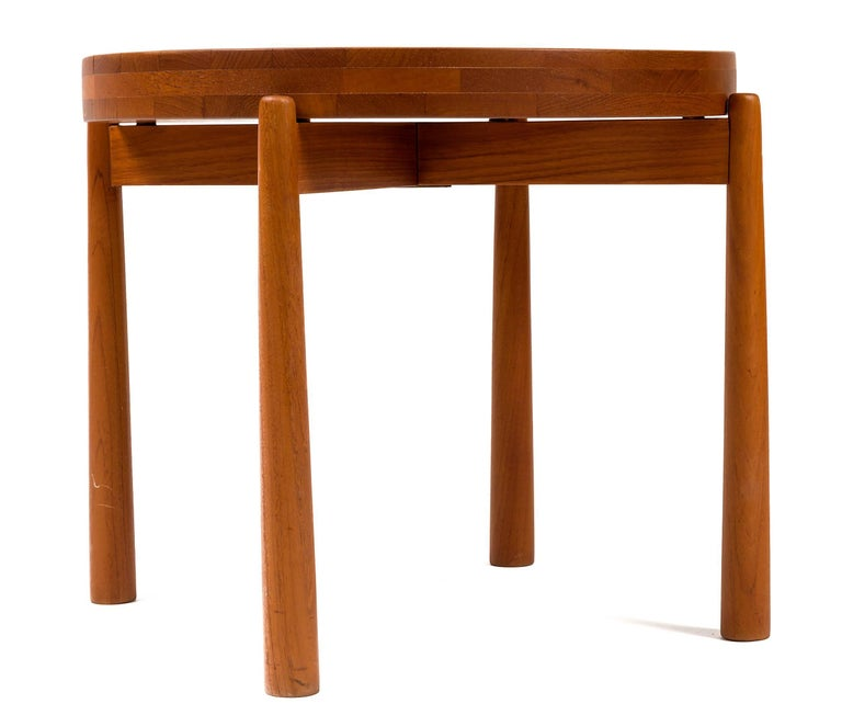 Danish Jens Quistgaard Style Teak Tray Table, Denmark, 1960s For Sale