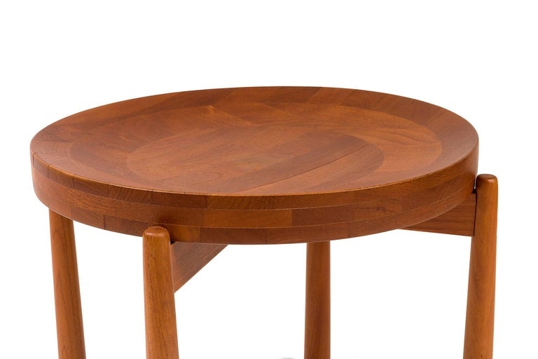 Jens Quistgaard Style Teak Tray Table, Denmark, 1960s In Excellent Condition For Sale In New York, NY