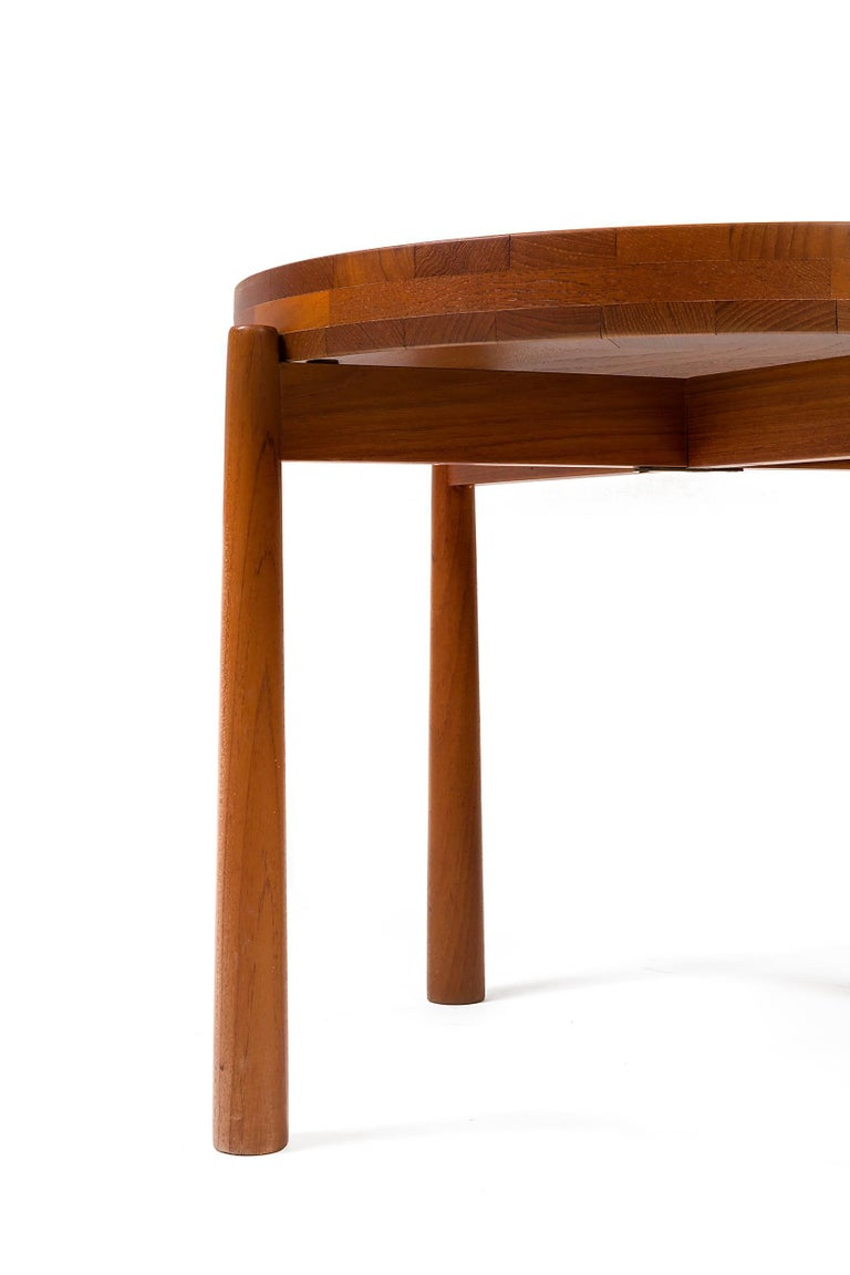 Mid-20th Century Jens Quistgaard Style Teak Tray Table, Denmark, 1960s For Sale