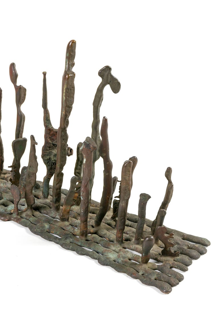 American Harry Bertoia Early Bronze Platform Sculpture, USA, 1950s For Sale