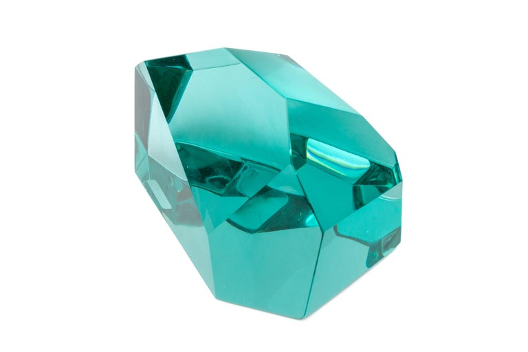 Ghiro Handcrafted and Signed Faceted Crystal Glass Sculptures, Italy, 2017 For Sale 1