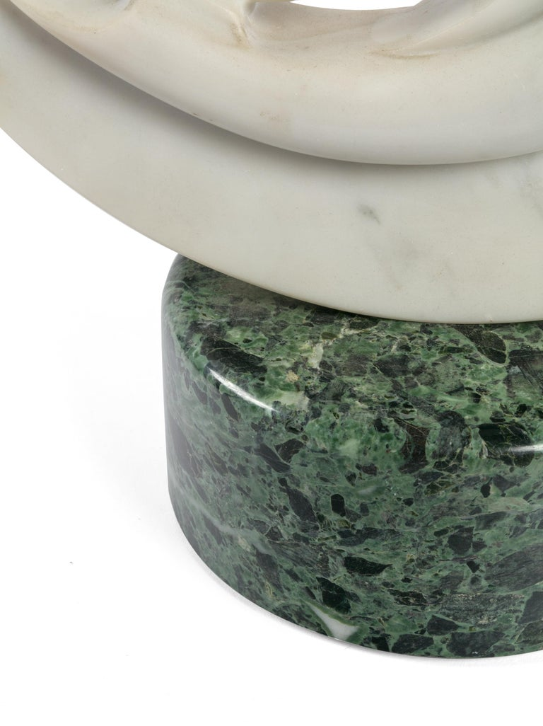 Late 20th Century Signed Abstract Marble Sculpture by Gild Covelli, Milano, Italy, 1975 For Sale