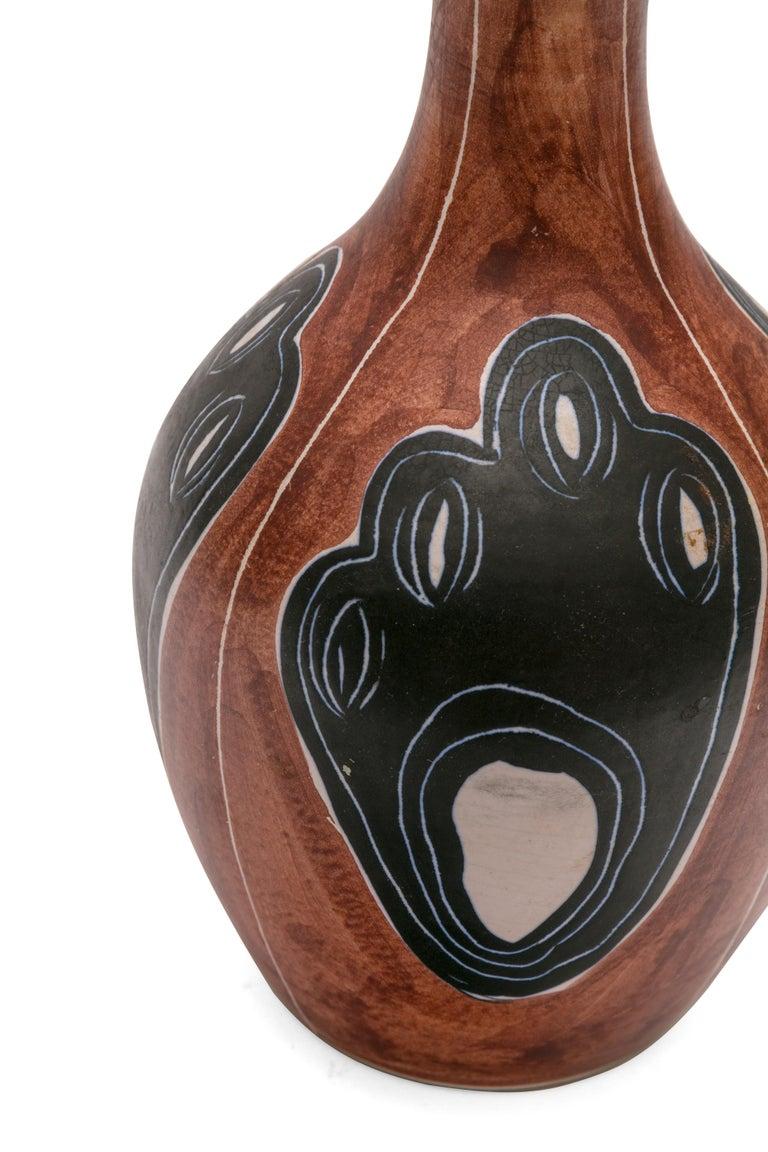 Danish Soholm Signed Hand-Painted Ceramic Vase, Denmark, 1950s For Sale