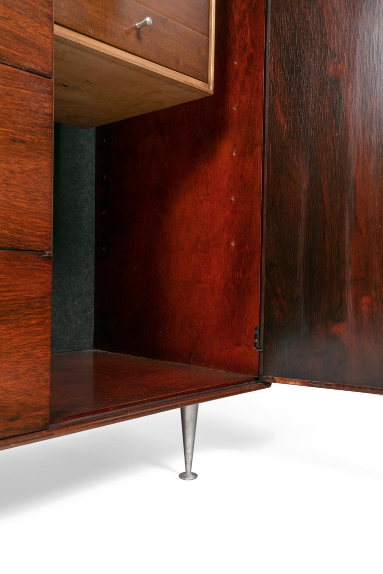 Mid-20th Century George Nelson Rosewood Thin Edge Chest of Drawers/Cabinet, Herman Miller, 1950s For Sale