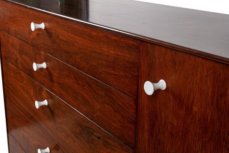 Aluminum George Nelson Rosewood Thin Edge Chest of Drawers/Cabinet, Herman Miller, 1950s For Sale