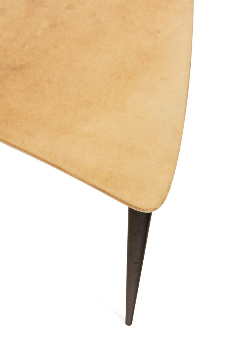 Aldo Tura Midcentury Goatskin Nesting Tables, Italy, 1960s In Good Condition For Sale In New York, NY