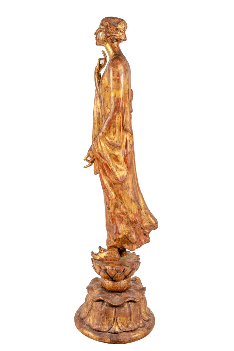 """Art Nouveau """"Chinoise"""" by Gertrude Vanderbilt Whitney Gilded Plaster, 1913 For Sale"""