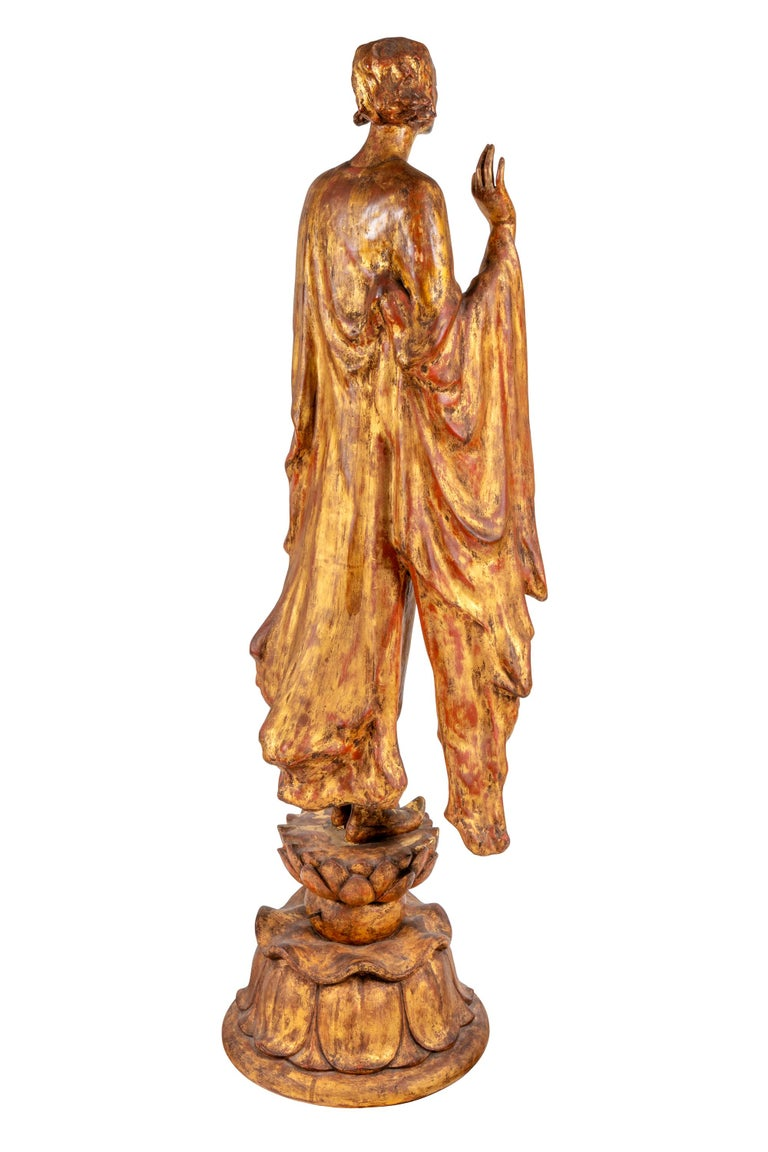 """American """"Chinoise"""" by Gertrude Vanderbilt Whitney Gilded Plaster, 1913 For Sale"""