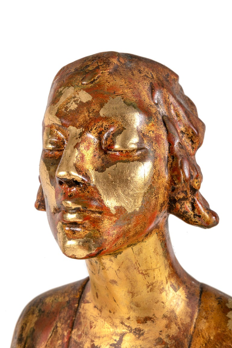 """Early 20th Century """"Chinoise"""" by Gertrude Vanderbilt Whitney Gilded Plaster, 1913 For Sale"""