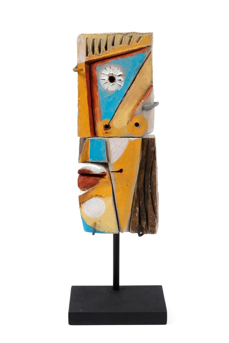 Roger Capron Colorful Abstract Ceramic Sculptures, France, 1990s In Good Condition For Sale In New York, NY