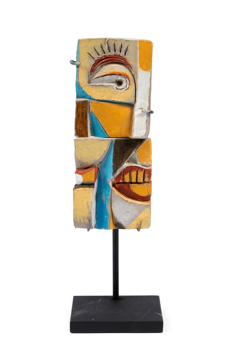 Late 20th Century Roger Capron Colorful Abstract Ceramic Sculptures, France, 1990s For Sale