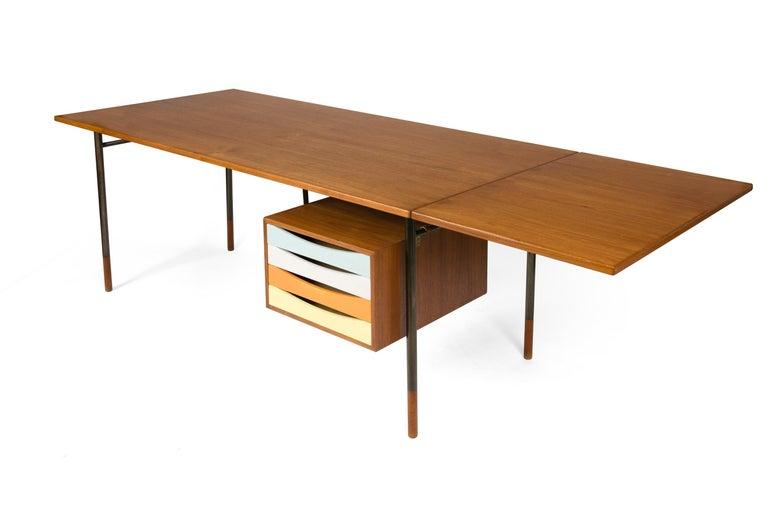 Scandinavian Modern Finn Juhl Model BO69 Nyhavn Teak Desk with Extension for Bovirke, Denmark, 1950s For Sale