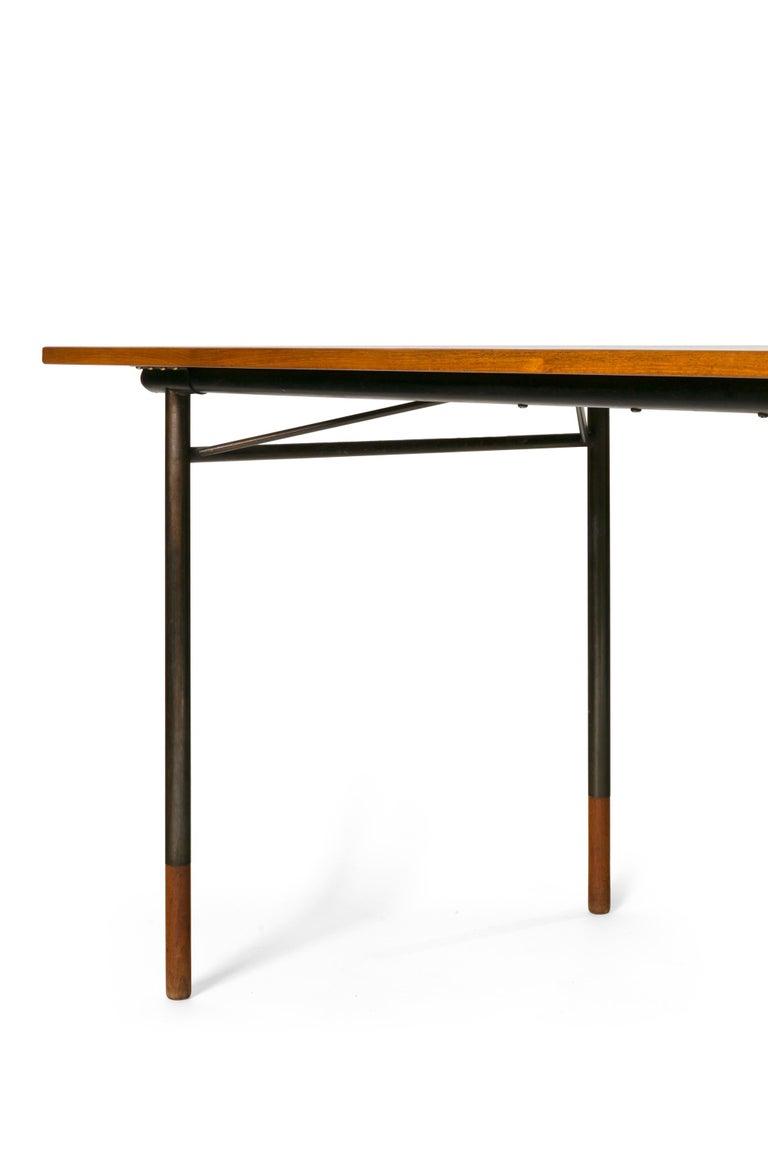 Mid-20th Century Finn Juhl Model BO69 Nyhavn Teak Desk with Extension for Bovirke, Denmark, 1950s For Sale