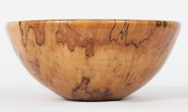 Spalted Red Maple Vessel by Philip Moulthrop For Sale 2