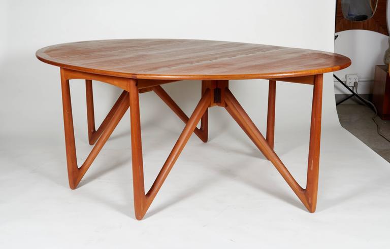 Niels Kofoed Drop Leaf Teak Dining Table For Sale at 1stdibs : IMG7998l from www.1stdibs.com size 768 x 491 jpeg 29kB