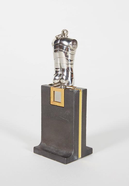 Exhibition Stand Crossword Clue : Berrocal micro david sculpture pendant on rare original