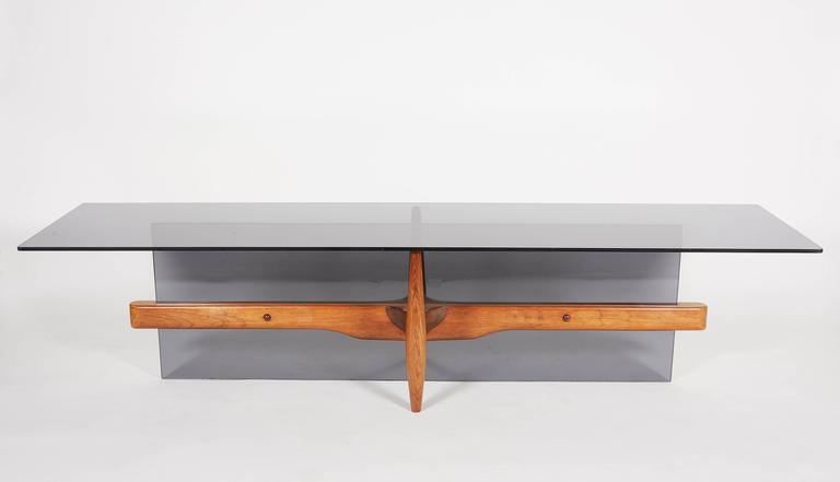 A remarkable and unique piece of furniture made by the craftsman for himself in 1965. The rosewood graining is outstanding. There is a matching sofa by the same maker also available.