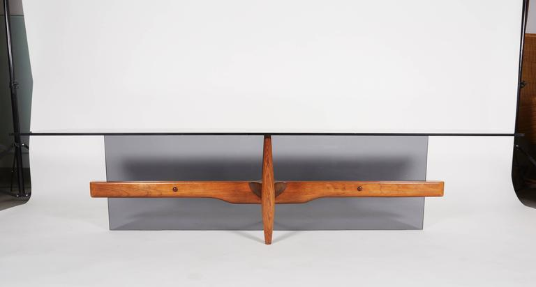 Canadian Unique Custom Rosewood Mid-Century Coffee Table For Sale