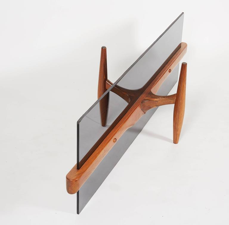 Mid-20th Century Unique Custom Rosewood Mid-Century Coffee Table For Sale