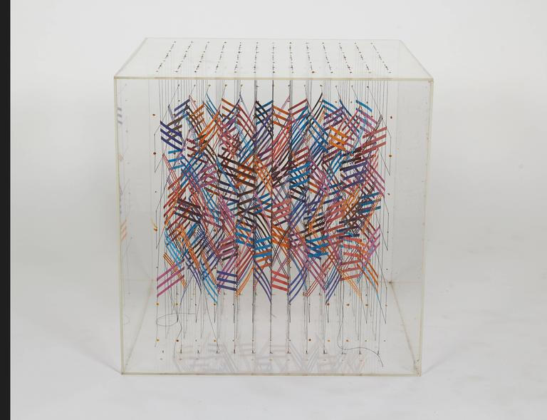 Irving Harper Paper and String Sculpture in Acrylic Box  In Excellent Condition For Sale In New York, NY