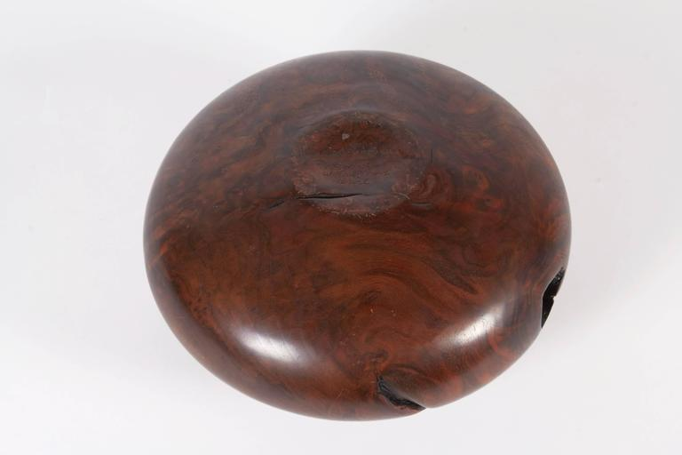 Melvin Lindquist Walnut Root Burl Turned Vase, Signed and Dated 1986 For Sale 1