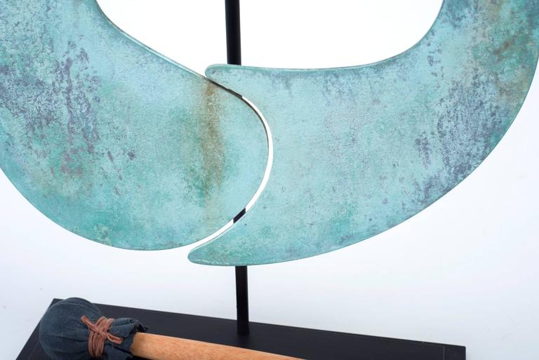 Harry Bertoia Patinated Bronze Gong For Sale 1
