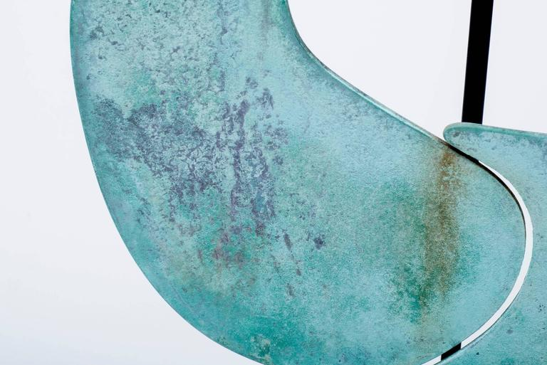 Harry Bertoia Patinated Bronze Gong For Sale 2