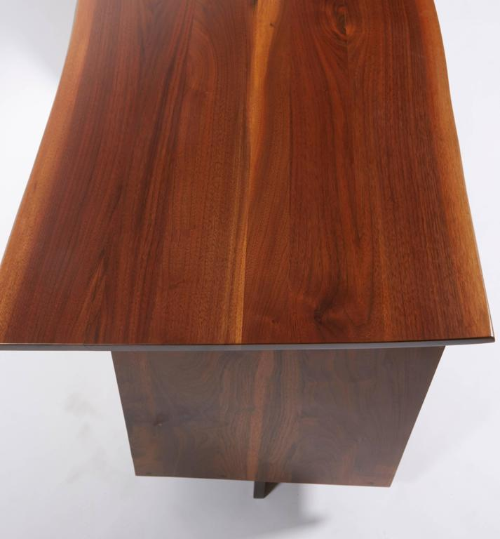 George Nakashima Walnut Double Pedestal Desk, 1977 For Sale 1