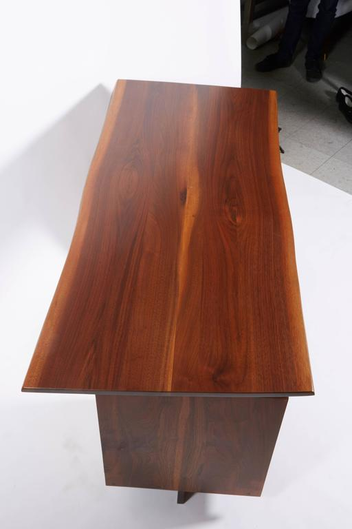 George Nakashima Walnut Double Pedestal Desk, 1977 For Sale 2