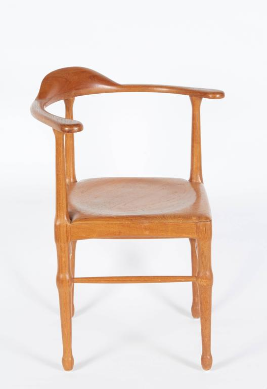 Apprentice cabinet makers would make models of furniture as a part of their training. A lovely addition for a collector of miniature chairs and a generally appealing decorative accessory do to its charming scale.
