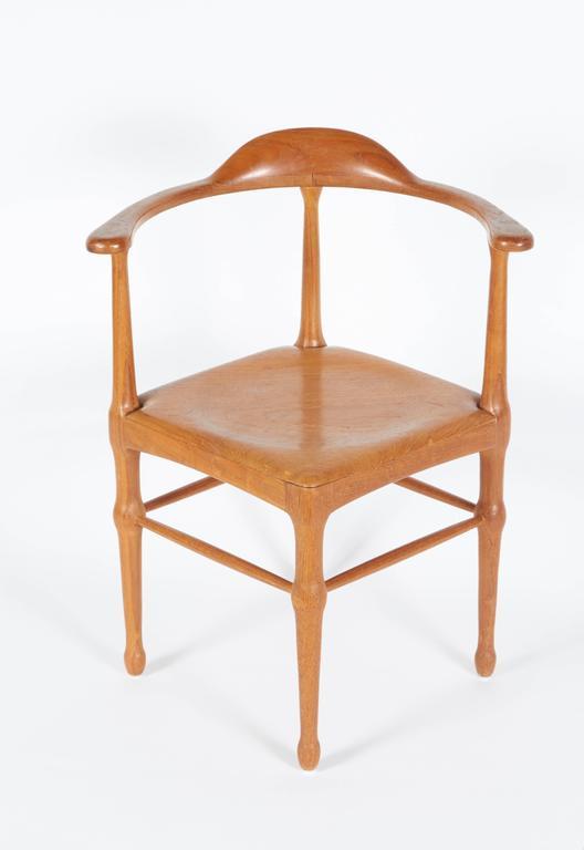 Scandinavian Modern Vintage Model of Danish Mid-Century Corner Chair For Sale