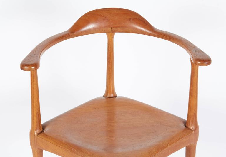 Teak Vintage Model of Danish Mid-Century Corner Chair For Sale