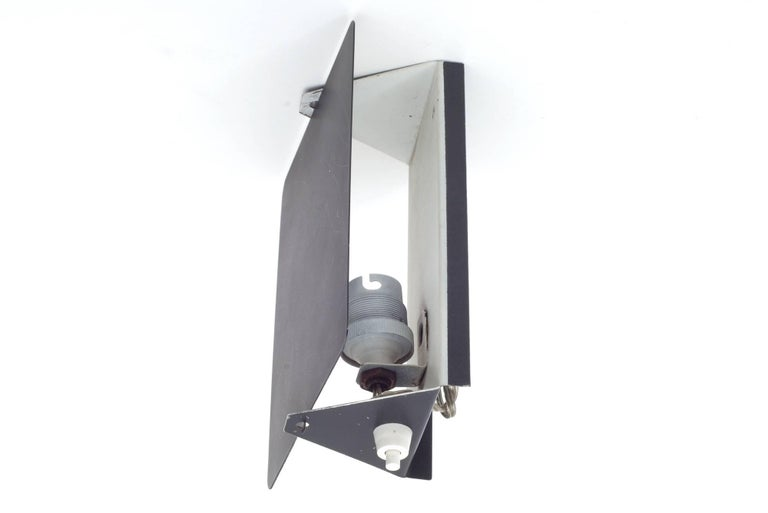 "French Charlotte Perriand ""CP1"" Black Metal Sconces, France, 1960s For Sale"