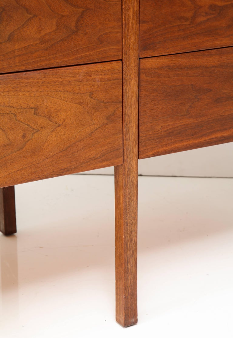 Steel Paul McCobb Mid-Century Walnut Chest of Drawers or Sideboard, USA, 1960s For Sale