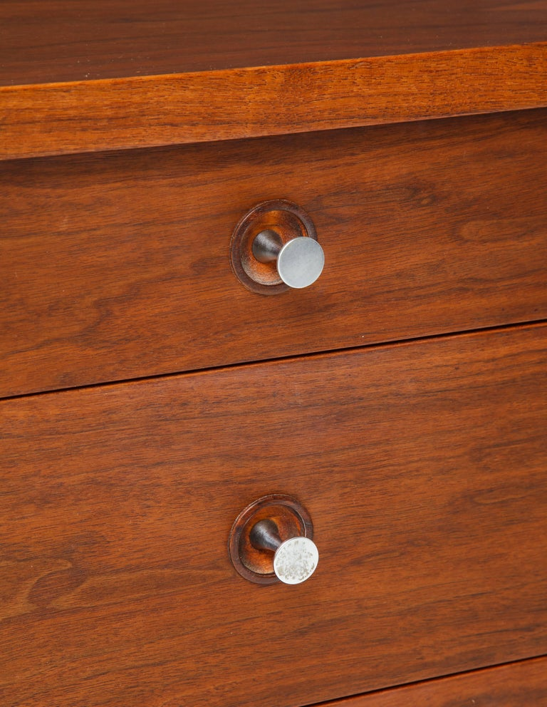 Paul McCobb Mid-Century Walnut Chest of Drawers or Sideboard, USA, 1960s For Sale 2