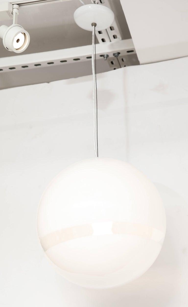 Mazzega Murano Mid-Century Globe Pendant Light, Italy, 1960s 3