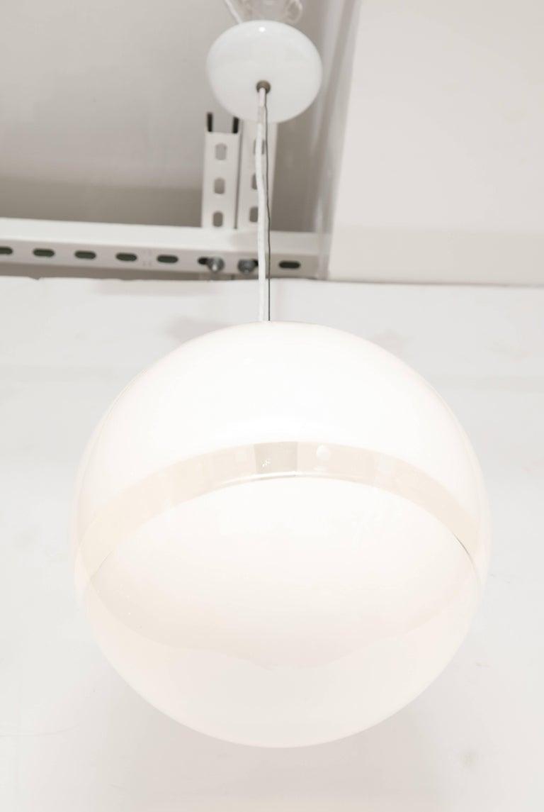 Mazzega Murano Mid-Century Globe Pendant Light, Italy, 1960s 4