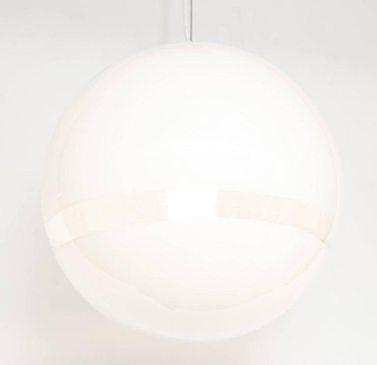 Mazzega Murano Mid-Century Globe Pendant Light, Italy, 1960s 6