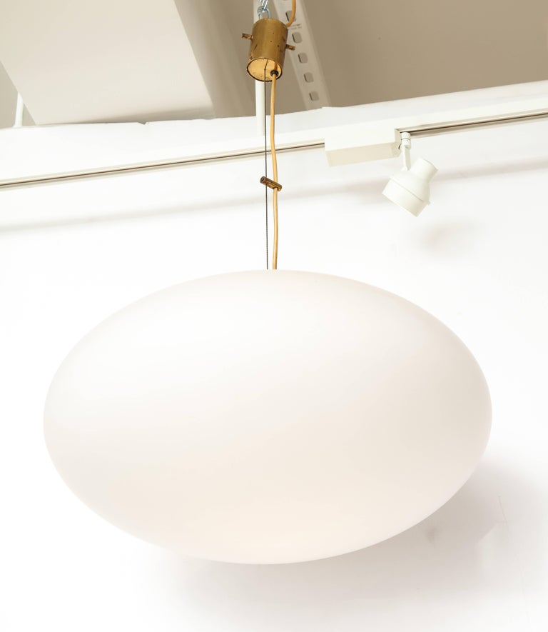 Stilnovo Mid-Century Oval Pendant Light 3