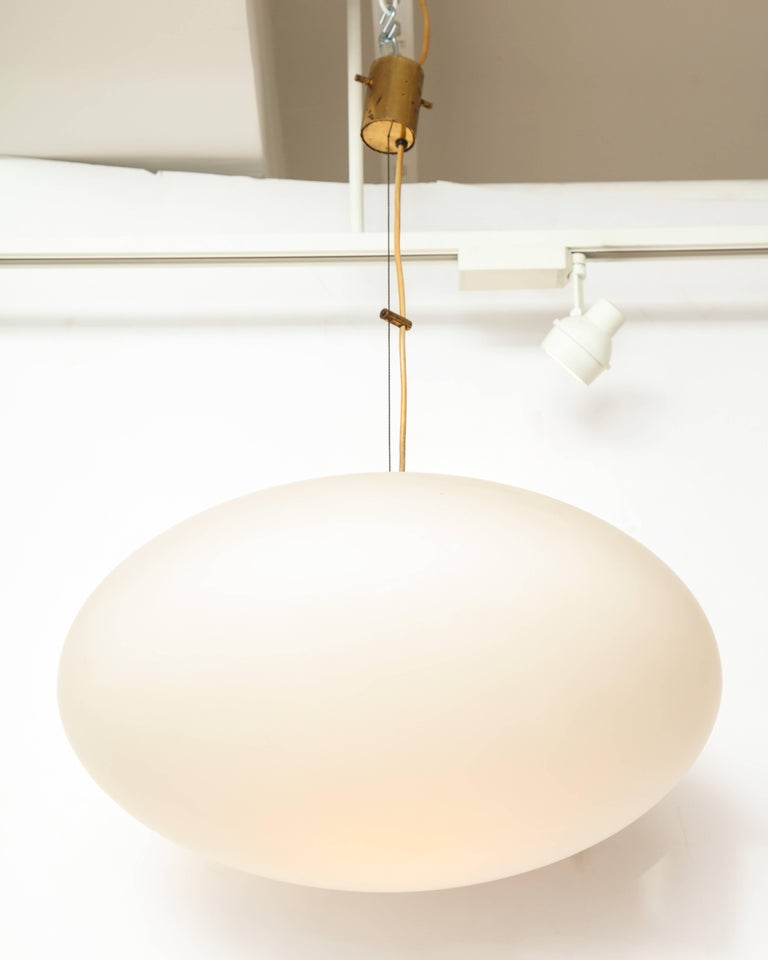 Stilnovo Mid-Century Oval Pendant Light 4
