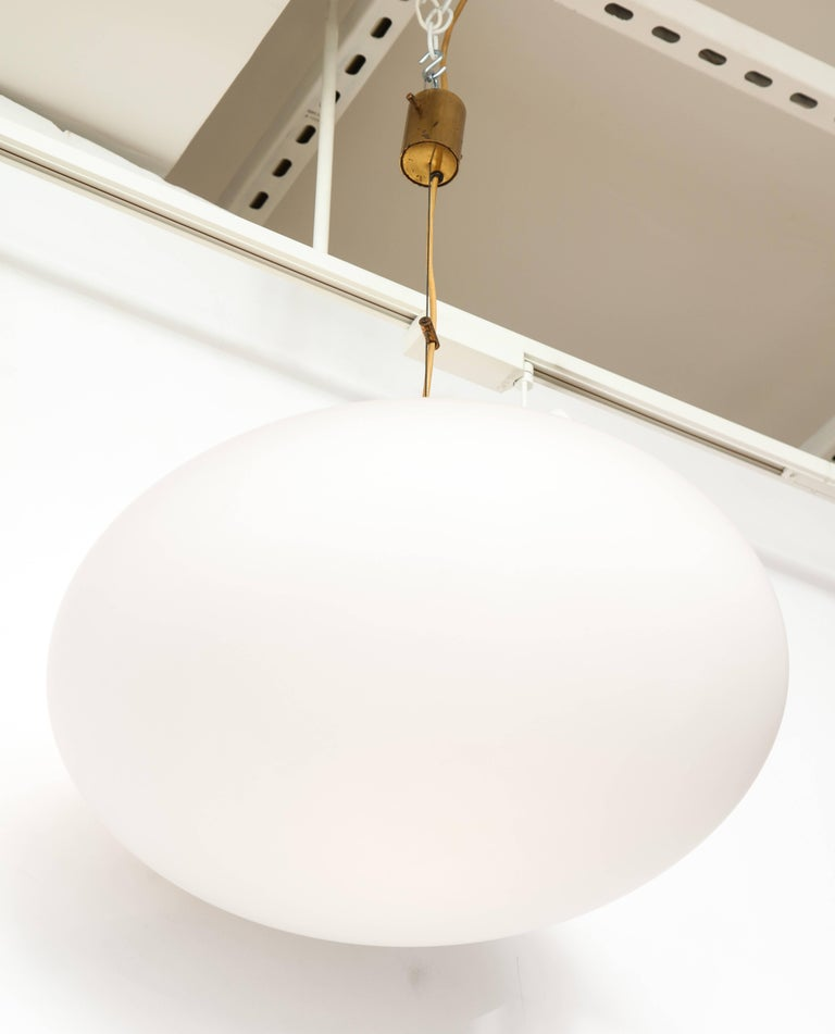 Stilnovo Mid-Century Oval Pendant Light 6