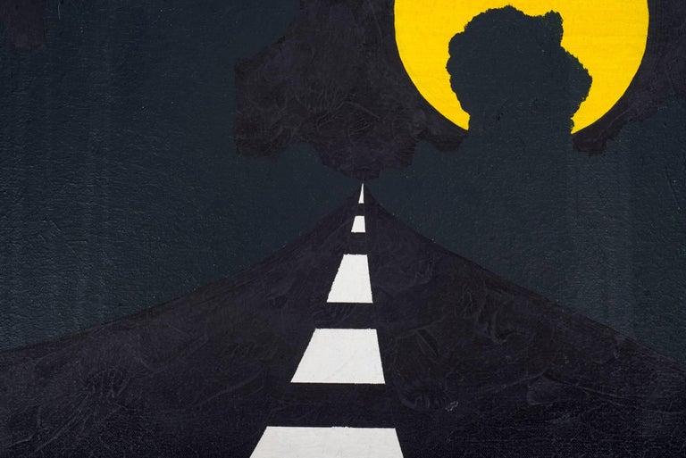 "Alan D'Arcangelo Acrylic on Canvas Painting ""Moon"" Signed En Verso, NYC, 1963 3"