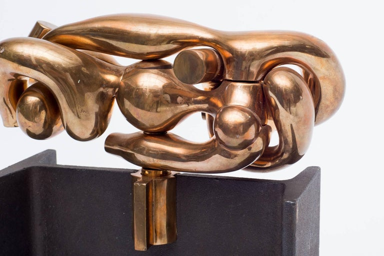 "Miguel Ortiz Berrocal ""La Maja"" Bronze and Iron Puzzle Sculpture, Italy, 1977 5"