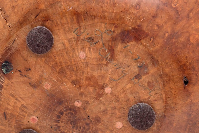 Late 20th Century Melvin Lindquist Turned Wild Cherry Burl Wood Vase, USA, 1973 For Sale