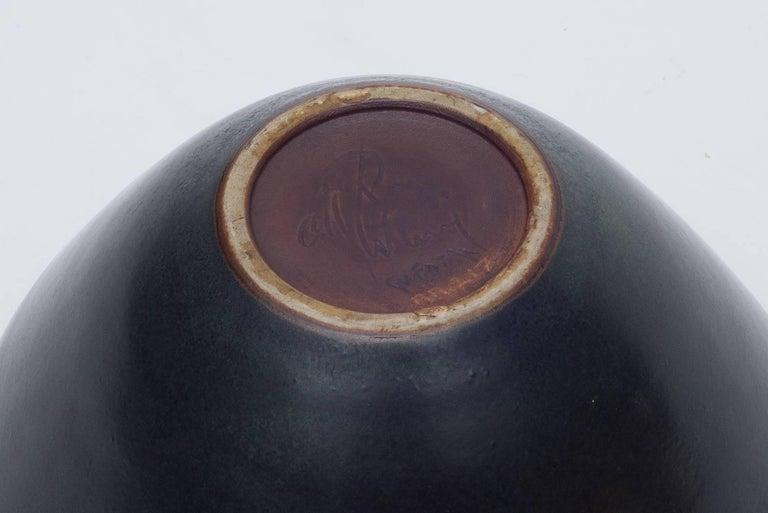 Danish Gunnar Nylund Matte Glaze Stoneware Bowl for Rostrand, Denmark 1950s For Sale
