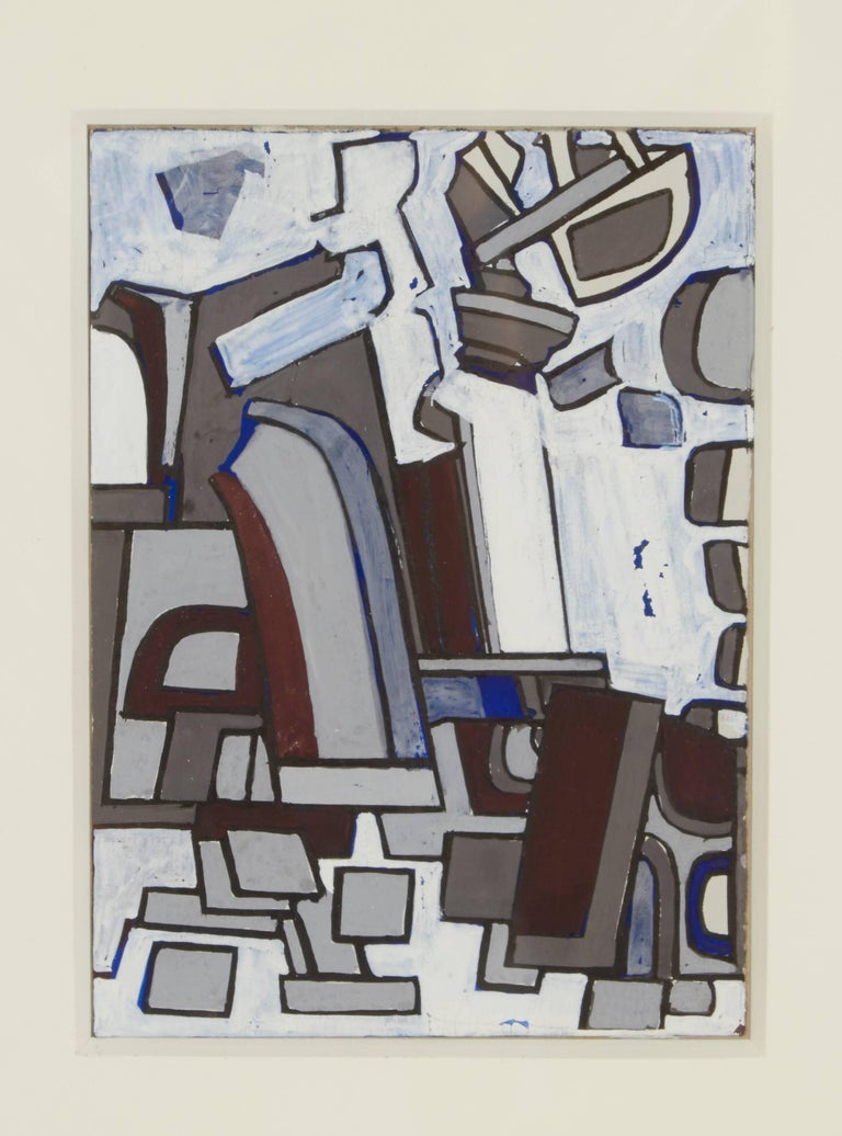During her first years in New York Blaine's work, which had previously been tightly realist, turned abstract, inspired by Mondrian, Leger and Jean Helion. At one time she was the youngest member of the American Abstract Artists. She was also a