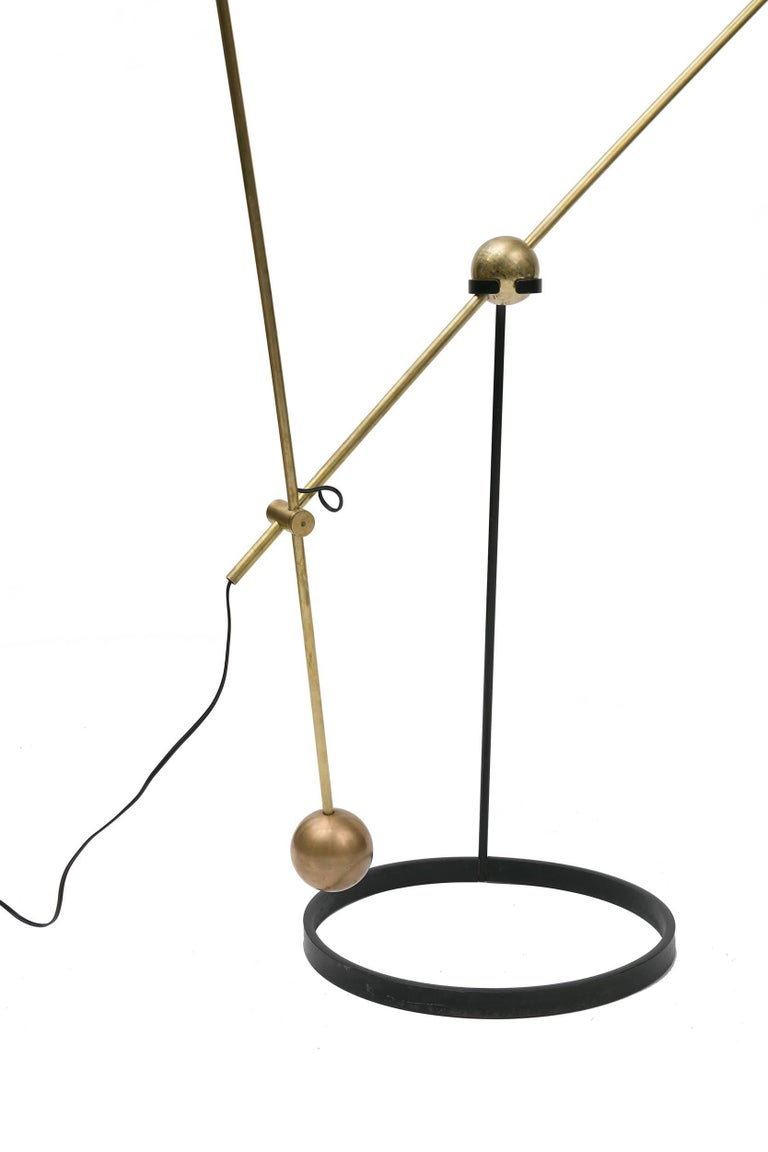 French Pierre Guariche Equalibrium Floor Lamp for Disderot, France, 1950s For Sale