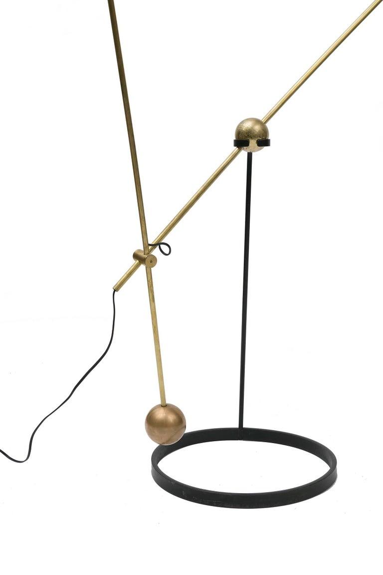 Italian Pierre Guariche Equalibrium Floor Lamp for Disderot, France, 1950s For Sale