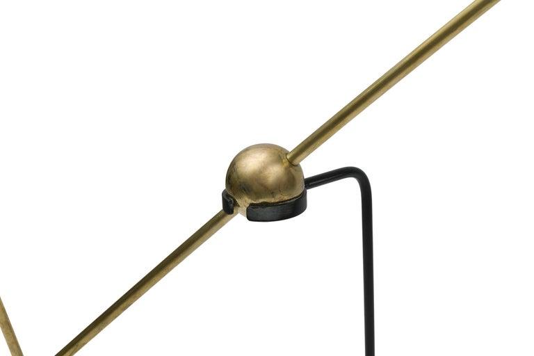 Enameled Pierre Guariche Equalibrium Floor Lamp for Disderot, France, 1950s For Sale